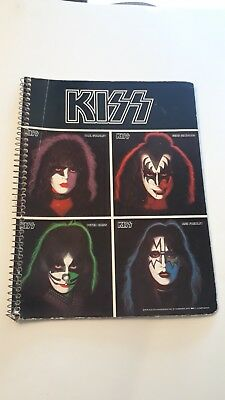 KISS Vintage Old School Spiral Notebook  4 Solo Faces - 1978 Aucoin ROCK BAND
