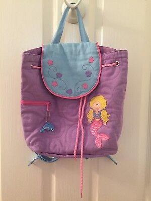 2bd62ded39 Stephen Joseph Girls Purple Quilted Mermaid Backpack Toddler Preschool Bags