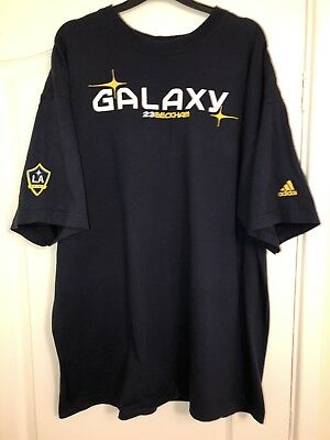Vintage Adidas LA Galaxy David Beckham Graphic T Shirt XXL MLS