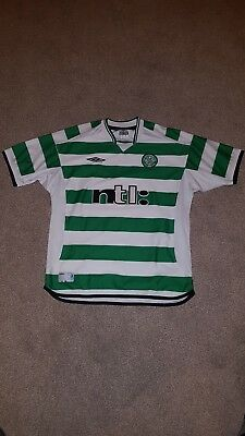 Glasgow Celtic 2001/2003 seasons Umbro Home Football Shirt Jersey Size L
