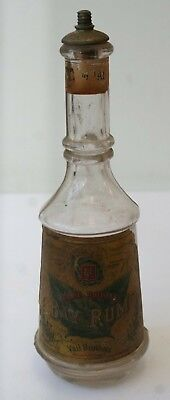 Rare Antique BAY RUM BARBER SHOP BOTTLE Vail Brothers Philadelphia PA Org. Label