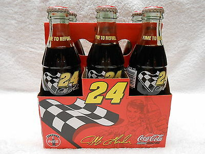 1995 Jeff Gordon #24 Coke Bottles ~ 6 pack w/ Mint Carrier ~ Collector Quality!