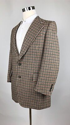 Men's NWOT VTG 70s Bonwit Teller Houndstooth Wool Tweed Blazer 44 R France