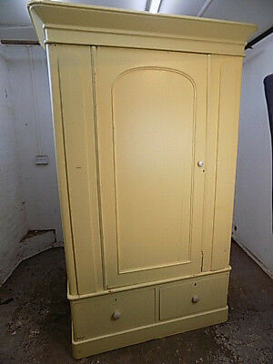 painted,single door,wardrobe,linen press,drawers,breakdown,pot,antique,victorian