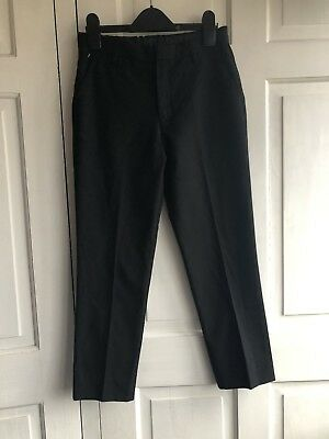 M&S Black Slim Leg School Trousers Age 10-11