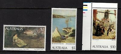 Australia 1977 Unmounted Mint Paintings $2, $5, $10 Values