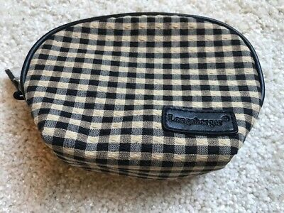 Longaberger Khaki Check-Small Fabric Change, Coin Purse Pockets & Mirror