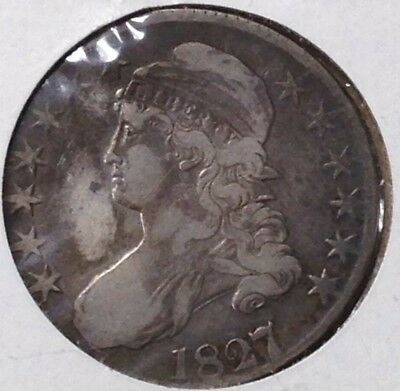 1827 Us 50C Silver Coin
