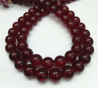 "1pcs red Chalcedony Gemstone Loose bead 15"" Beaded Accessorie Round Lots Stone"