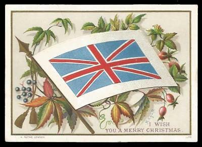 C80 - Opening Flag - H. Rothe, London - Artist Signed - Victorian Xmas Card