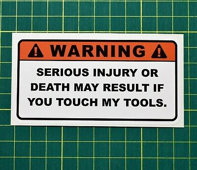 Funny Toolbox Workshop Warning Stickers Garage Stickers Dodgy Joiner