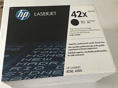 New Genuine Sealed in Box HP 42X for 4240 / 4250 Toner (High Yield) Q5942x