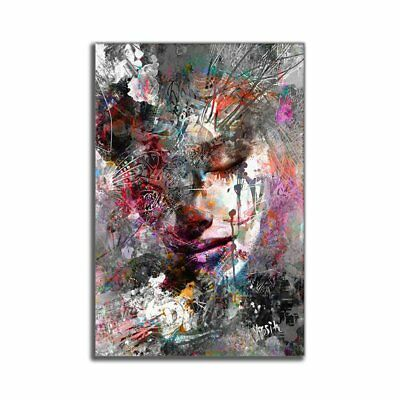 Watercolor Painting Abstract Figure Painting Frameless Canvas Painting AZ