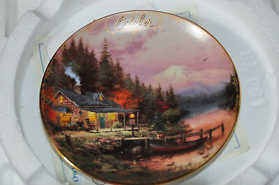 THOMAS KINKADE SIMPLER TIMES - October - End of Perfect Day - Plate # 5798B