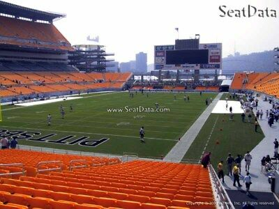 (6) Steelers vs Browns Tickets Lower Level Aisle Seats!!
