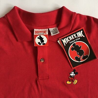 Mickey, Inc Embroidered Red Polo Golf Shirt Mickey Mens XL New Mickey Mouse New