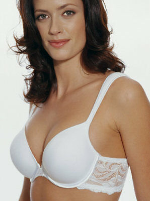 085574e4423f4 Vintage NWT Bali Seductive Curves with Lace Full Support Underwire Bra  White 36D