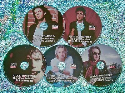 Pin & FREE RICK SPRINGFIELD Video Archives 1984-2018 5 DVD Set Interviews & LIVE