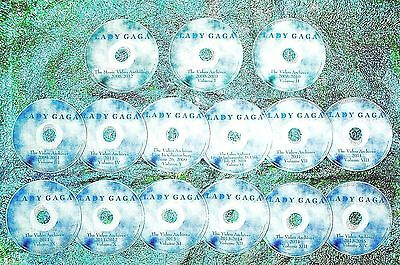 Button & FREE LADY GAGA Video Archives & Music Videos 2009-2017 16 DVD Set WOW
