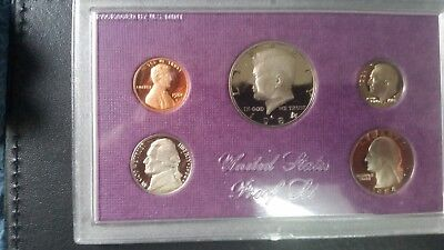 4 American Proof Coin Sets Plus  Dollar And Half Dollar + Mixed Coins
