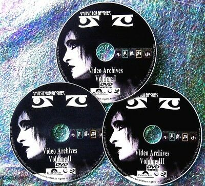 Button & FREE SIOUXSIE and The BANSHEES Video Archives & Live Concert 3 DVD Set