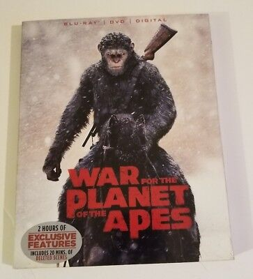 War for the Planet of the Apes (Blu-ray/DVD, 2017, 2-Disc Set, Includes Digital…