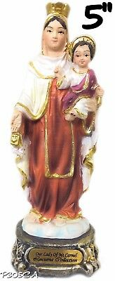 Virgen Del Carmen Our Lady of Mount Carmel Statue Virgin Catholic Decor New 5""
