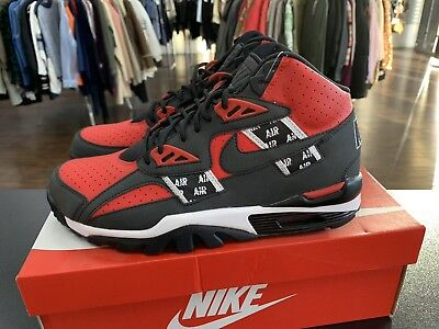 quality design bd0f1 3528f Nike Air Trainer SC High SOA Black Speed Red White Bred AQ5098-600 SIZE 9.5