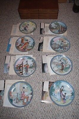 Lot of 8 Chinese Bradford Exchange Plates w/Paperwork 1988 & 1989 Excellent!!!