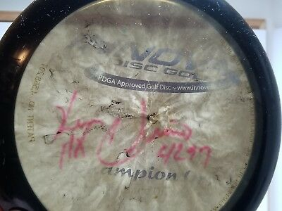 Disc Golf Autograph Signed by Ken Climo 11x Champion Orc Innova Rare Black Disc