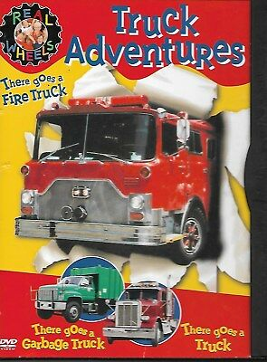 Real Wheels: Truck Adventures (DVD/1993) VGC FREE S/H Fire Truck & Garbage Truck