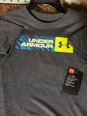 Boys Kids Youth Under Armour T-Shirt NEW Dark Grey short sleeve 3T