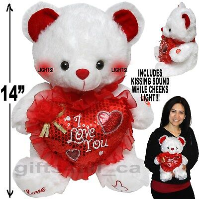 Cute Valentine Day Stuffed Teddy Bear I Love You Gift Plush Heart Mother Sweet