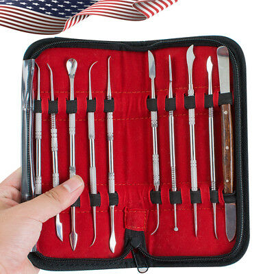 USA Dental Lab Stainless Steel Kit Wax Carving Tool Set Instrument  10pcs