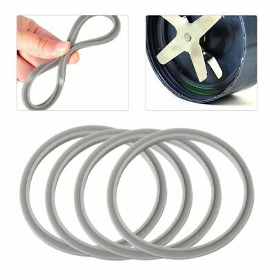 4Pcs Replacement Gasket Rubber Seals Seal Grey Ring For Nutribullet 900 Pro 900W