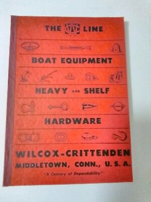 Two(2)WILCOX CRITTENDEN BOAT SUPPLIES CATALOGS from 1950