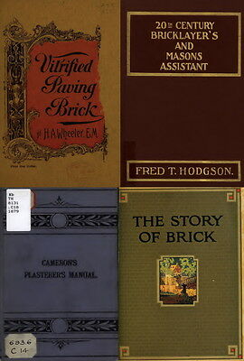 125 Old Books On Bricklaying, Plastering, Masonry Work And Stone Cutting On Dvd