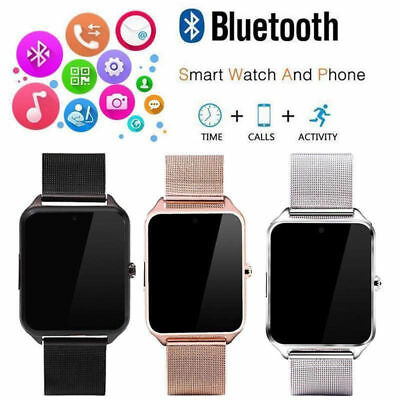 Bluetooth Smart Watch GSM SIM Phone Mate Z60 Stainless Steel For IOS Android SE