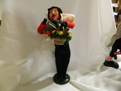 Byers' Choice  The Carolers Traditional Shopper Man Basket of Fruit