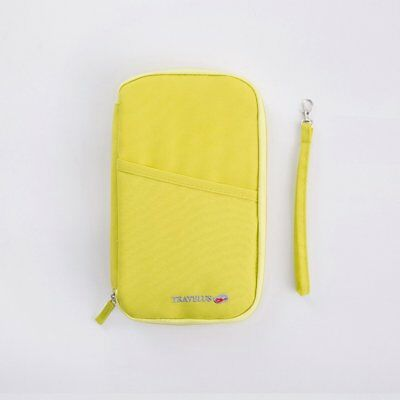 Travel Wallet RFID Blocking Document Organizer Bag Family Passport Holder AZ
