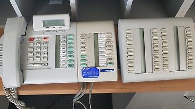 Commander NT132 Business Phone System Reception console and 22 hansets