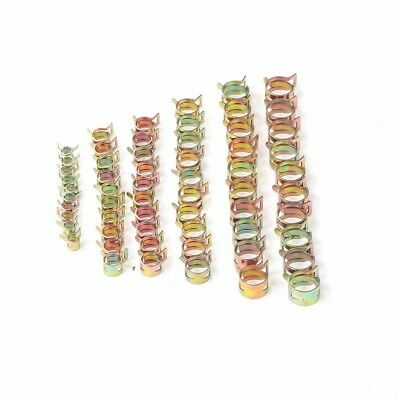 Hot 60Pcs 6-15mm Spring Clips Fuel Water Hose Clip Pipe Tube Clamp Fastener