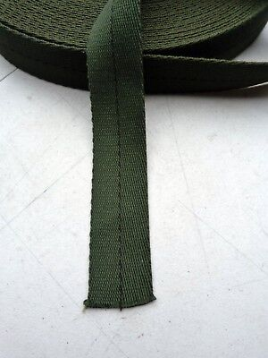 """45mm 1 3/4"""" Cotton PARACHUTE HARNESS Webbing 2900lb Strength Olive MIL-W-5665"""