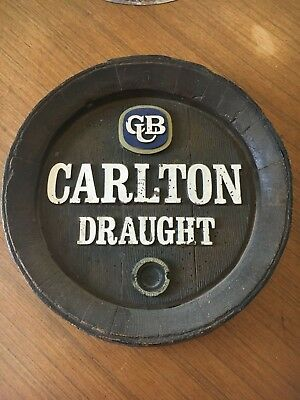 Carlton Draught Barrel End - RARE ORIGINAL VINTAGE