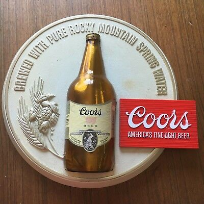 Coors Beer Sign - RARE ORIGINAL VINTAGE 1970's