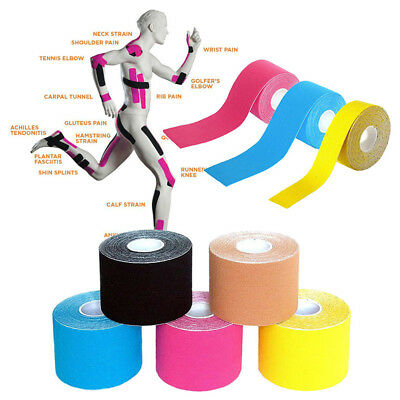 5cm*5M One Roll Elastic Kinesiology Sports Tape Muscle Pain Care Therapeutic