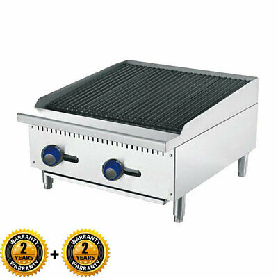 2 Burner Radiant Char Grill Gas Cook Top Commercial Kitchen Flame Failure
