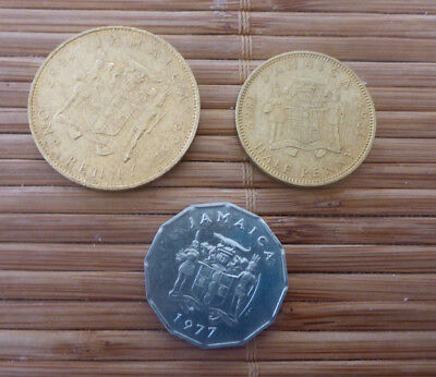 3 Coins x Jamaica - Half Penny 1969, One Penny 1969 and One Cent 1977