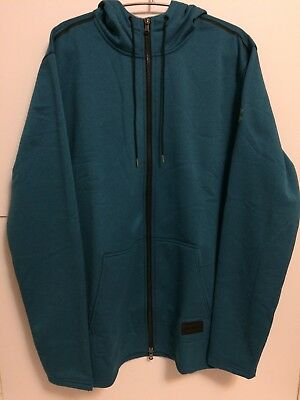 Under Armour Mens UA Blue Fleece French Terry Sz XL Zip Hoodie (1314924-953)