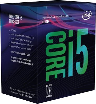 Intel Core I5-8400 + Optane 2.80ghz S1151 Coffee Lake 8th Generation Boxed + Opt
